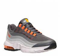 """Кроссовки женские черно-красные Nike Air Max 95  White/Grey/Orange """"Серый+белый+оранжевый"""""""