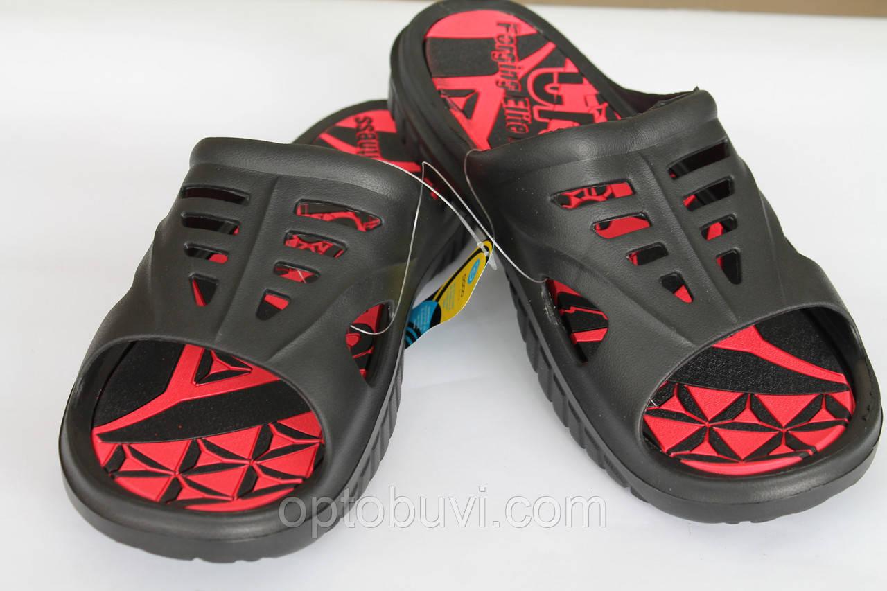 1f80bd983 Тапочки летние мужские черные оптом Даго - Обувь оптом Шуз-холл   Обувь от  производителя