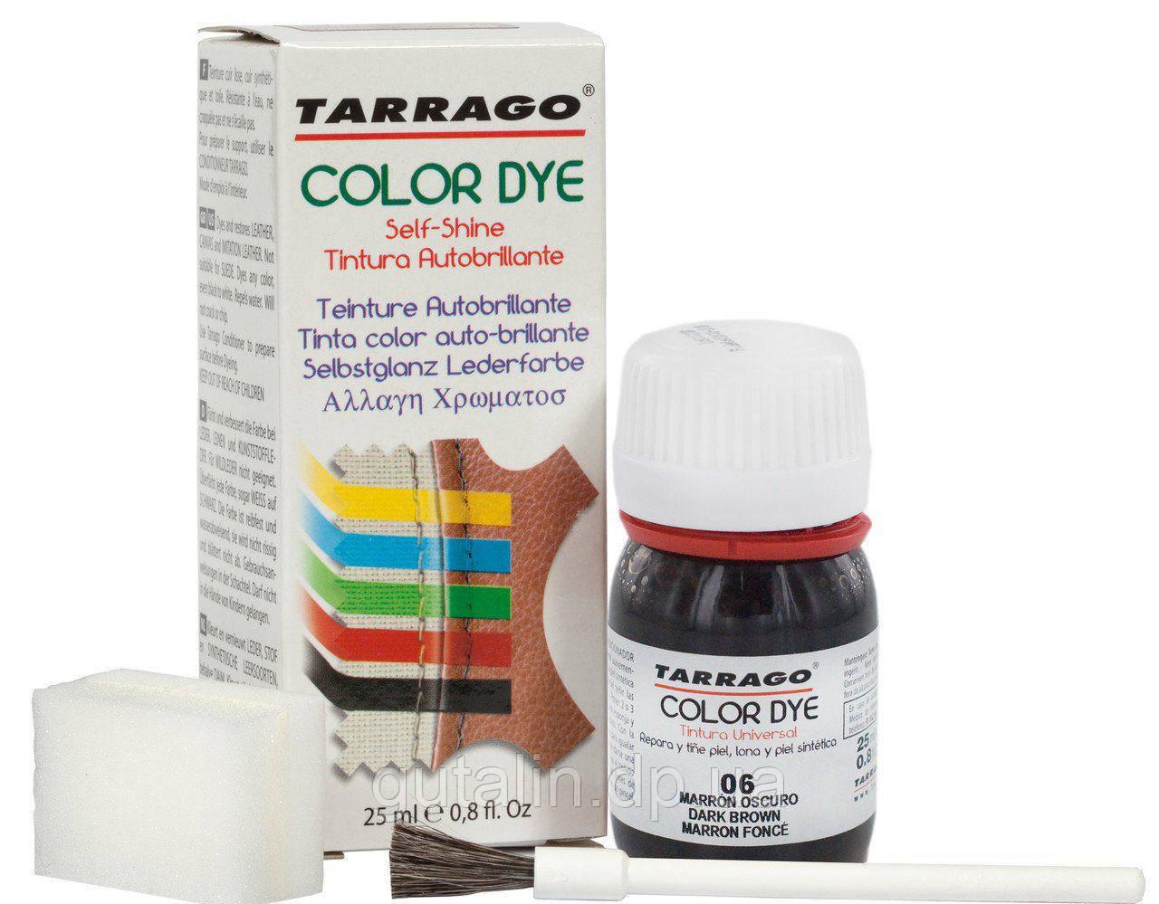 Краситель для гладкой кожи и текстиля Tarrago Color Dye 25 мл цвет  темно коричневый (06)