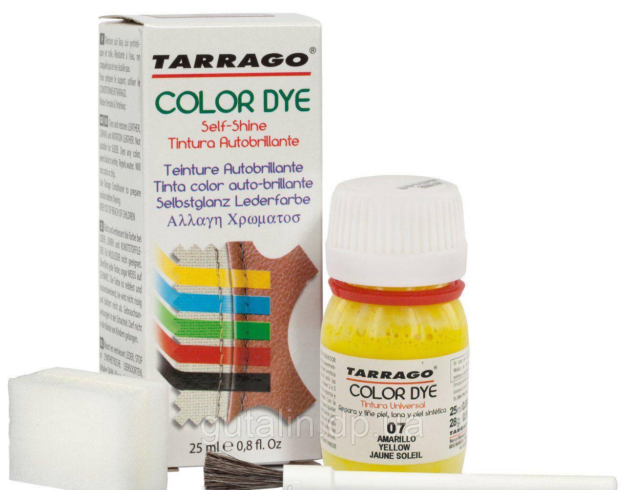 Барвник для гладкої шкіри та текстилю Tarrago Color Dye 25 мл колір жовтий (07)