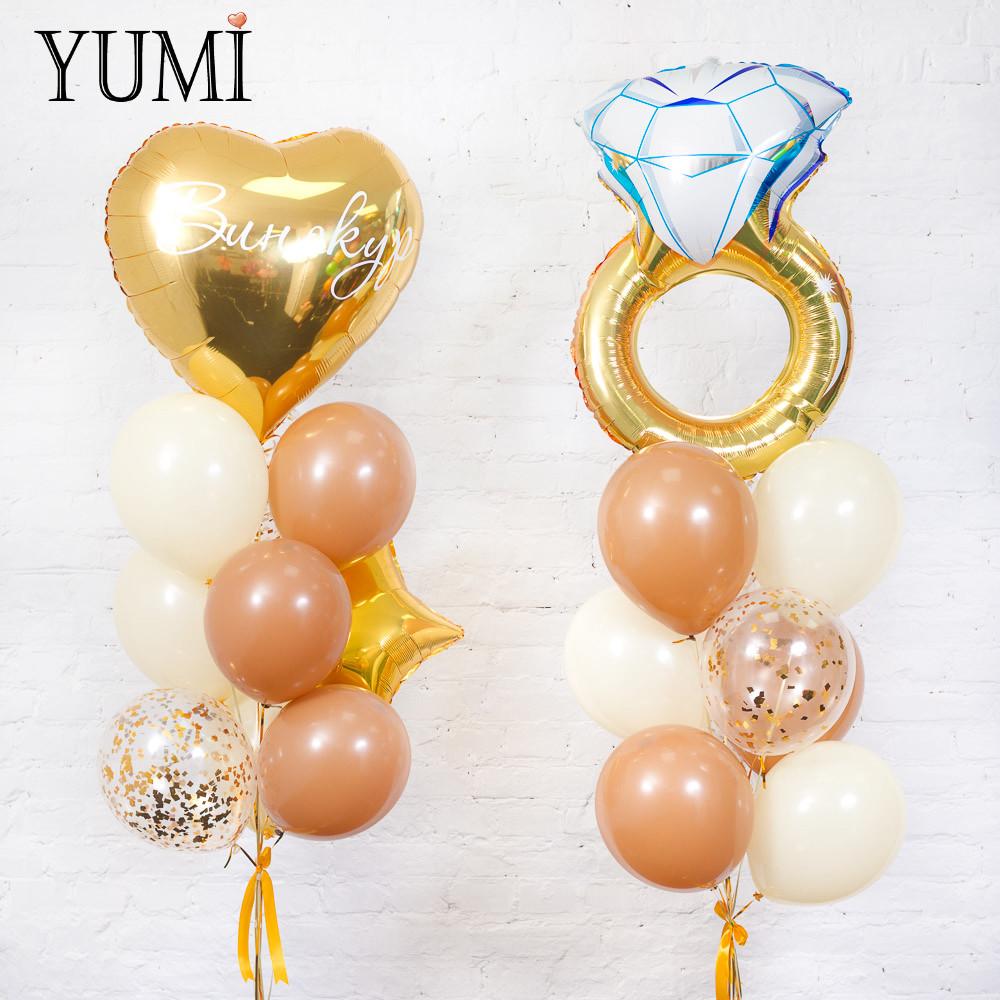Стильный декор из воздушных шариков с гелием на свадьбу