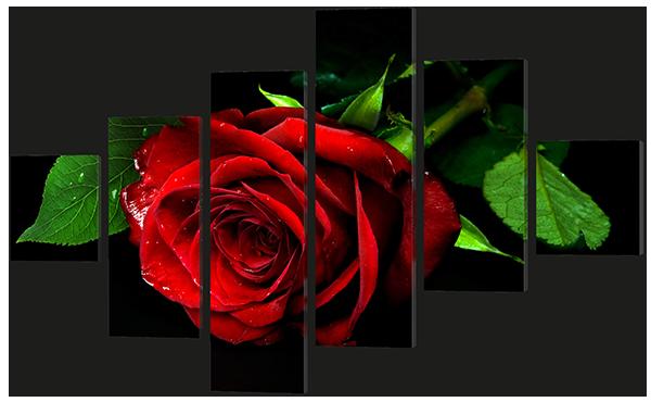 Модульная картина Необычная роза 178*115,5 см
