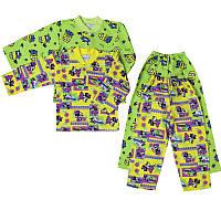 Детская пижама хлопок футер 1 2 3 года 4 5 6 лет