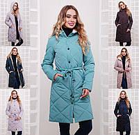 Женская длинное демисезонное пальто-куртка с капюшоном (расцветки)