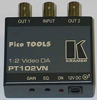 Усилитель-распределитель 1:2 композитных видеосигналов c регулировкой уровня Kramer PT-102VN