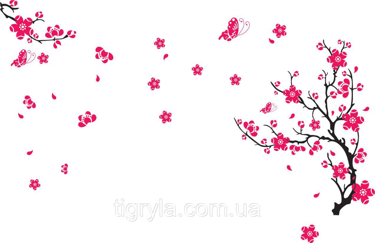 Интерьерная наклейка на стену Цвет Сакуры