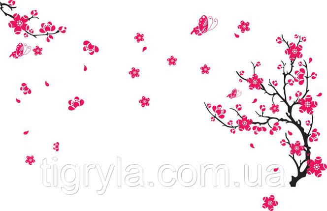 Интерьерная наклейка на стену Цвет Сакуры, фото 2