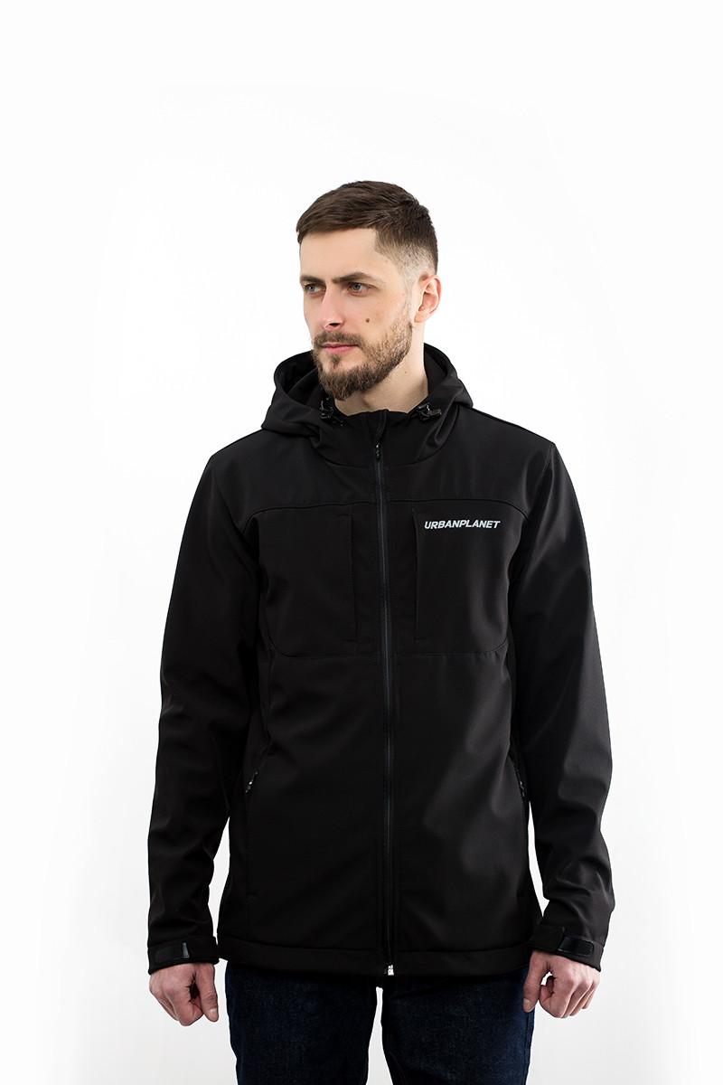 ed39084693aa Куртка мужская ветровка WM7 SOFTSHELL Urban Planet черная (мужская куртка, ветровка  мужская, куртка