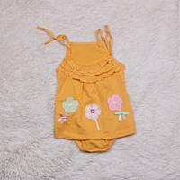 Пісочник плаття Квіточки (помаранчева)