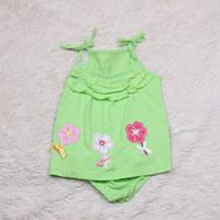 Песочник платье Цветочки (салатовое)