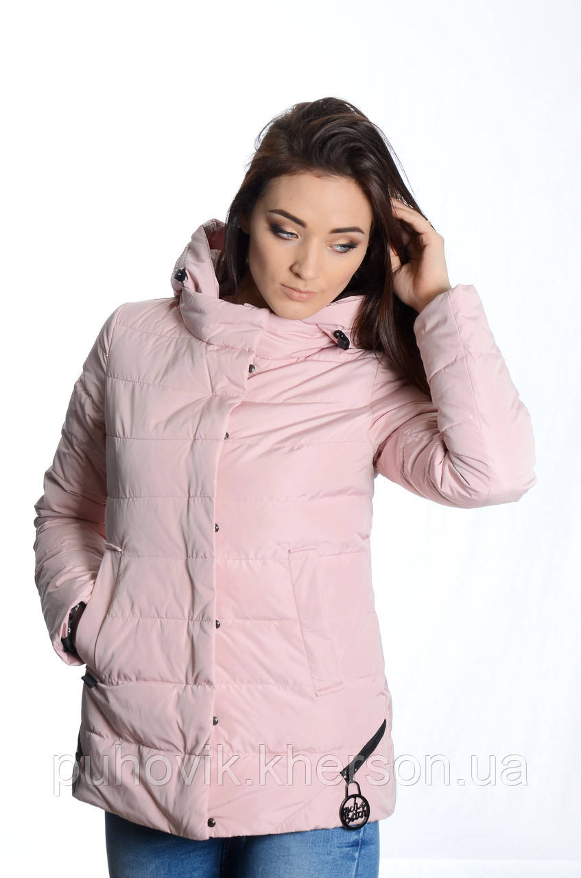 0f9537e70403 Куртка женская деми Meajiateer M1836 пудра -