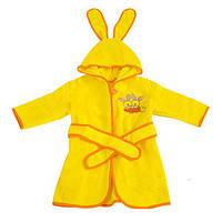 Детский махровый халат с ушками на 80-86 см
