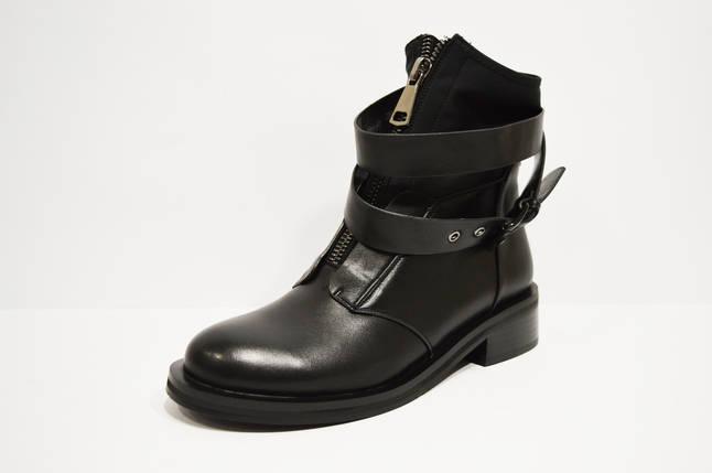 Ботинки женские с ремешками черные Fabio Monelli, фото 2