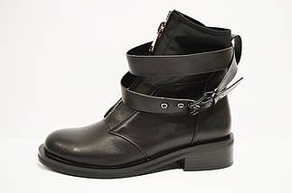 Ботинки женские с ремешками черные Fabio Monelli, фото 3
