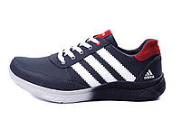 Мужские кожаные кроссовки Anser Adidas Flex fit blue