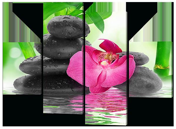 Модульная картина Орхидеи и камни