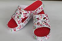 Шлепанцы ПВХ ЭВА женские красные оптом Даго, фото 1