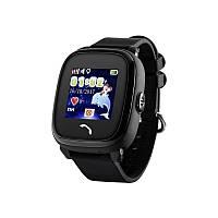 Детские телефон-часы с GPS трекером UWatch DF25 черные