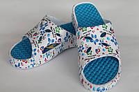 Шлепанцы ПВХ ЭВА женские голубые оптом Даго, фото 1
