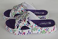 Шлепанцы ПВХ ЭВА женские фиолетовые оптом Даго, фото 1