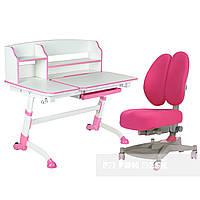 Подростковая парта для школы FunDesk Amare II Pink + ортопедическое кресло FunDesk Contento Pink