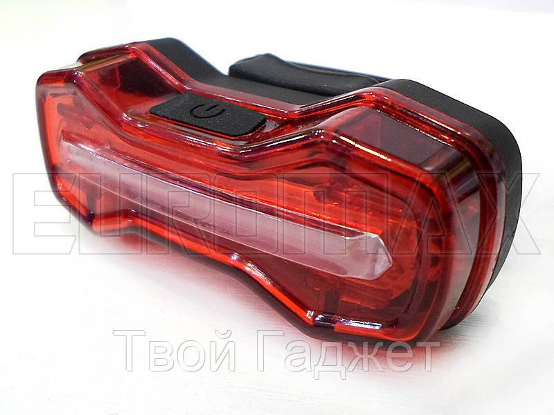 Фонарь велосипедный USB красный C05-526-R