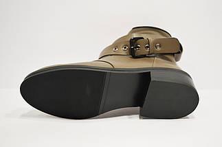 Ботинки женские с ремешками хаки Fabio Monelli, фото 3