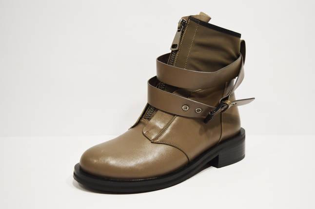 Ботинки женские с ремешками хаки Fabio Monelli, фото 2