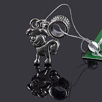 Шарм серебряный Собачка