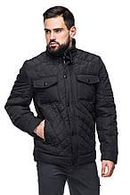 Мужская демисезонная куртка классическая Черный
