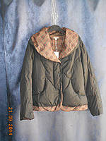 Куртка с отделкой в клеточку