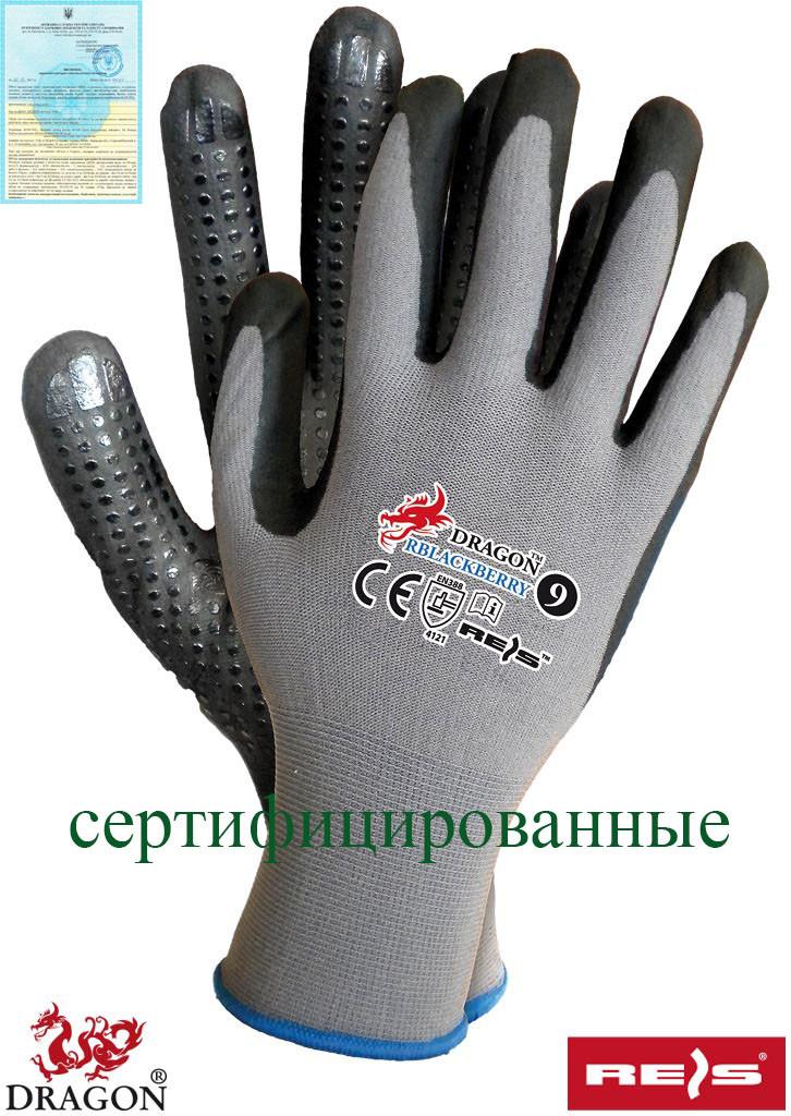 Перчатки защитные, изготовленные из лайкры и нелона RBLACKBERRY SB