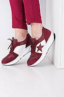 Женские модные кроссовки красного цвета 3945