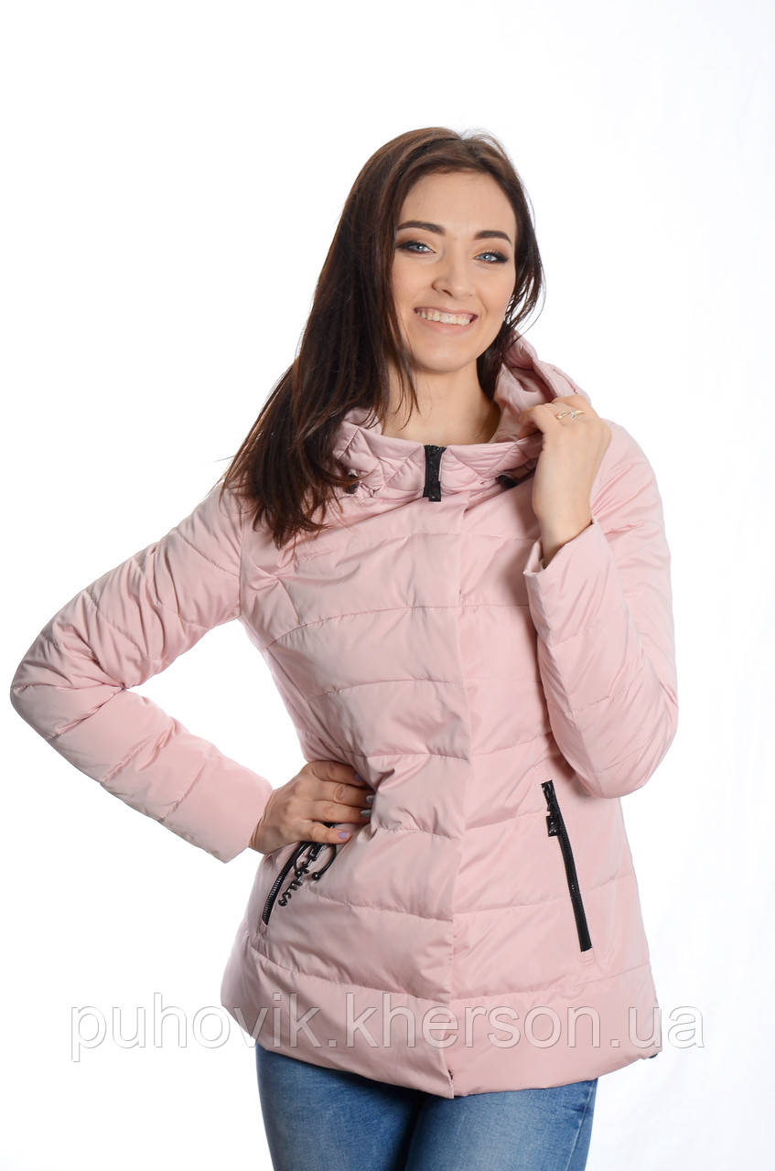 156dd2a3d9e Куртка женская деми Meajiateer M1808 пудра -