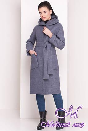 """Женское  демисезонное пальто-миди из кашемира (р. S, M, L) арт. """"Анита 4462"""" - 21348, фото 2"""