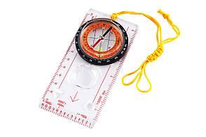 Туристический компас с линейкой планшетного типа, жидкостный механизм