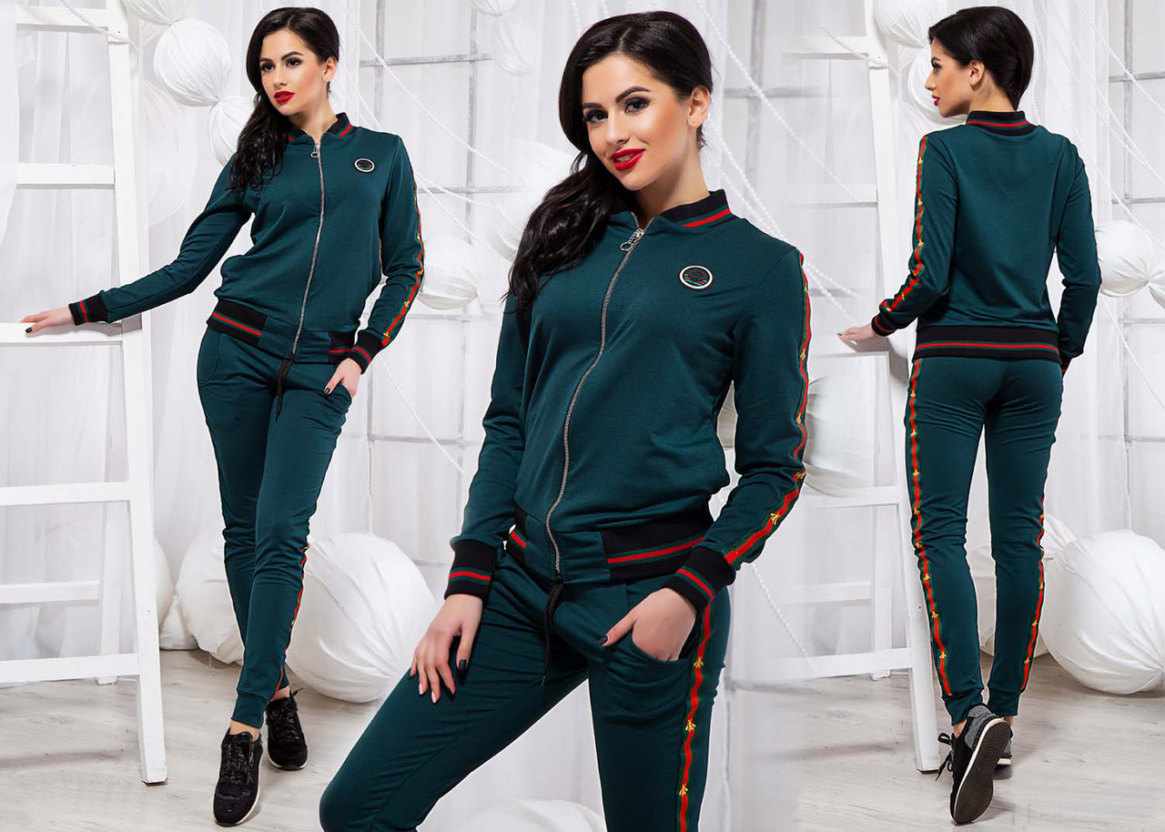 f60a09a299f6 Женский стильный спортивный костюм двухнить 805