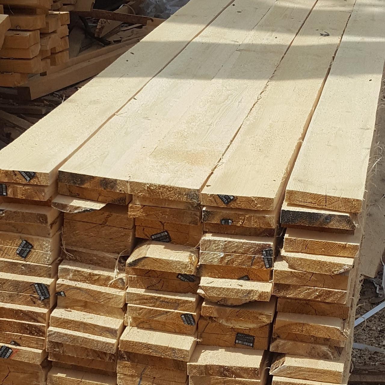 Доска обрезная свежепиленная с доставкой по Киеву и области 25, 100, 4,5м