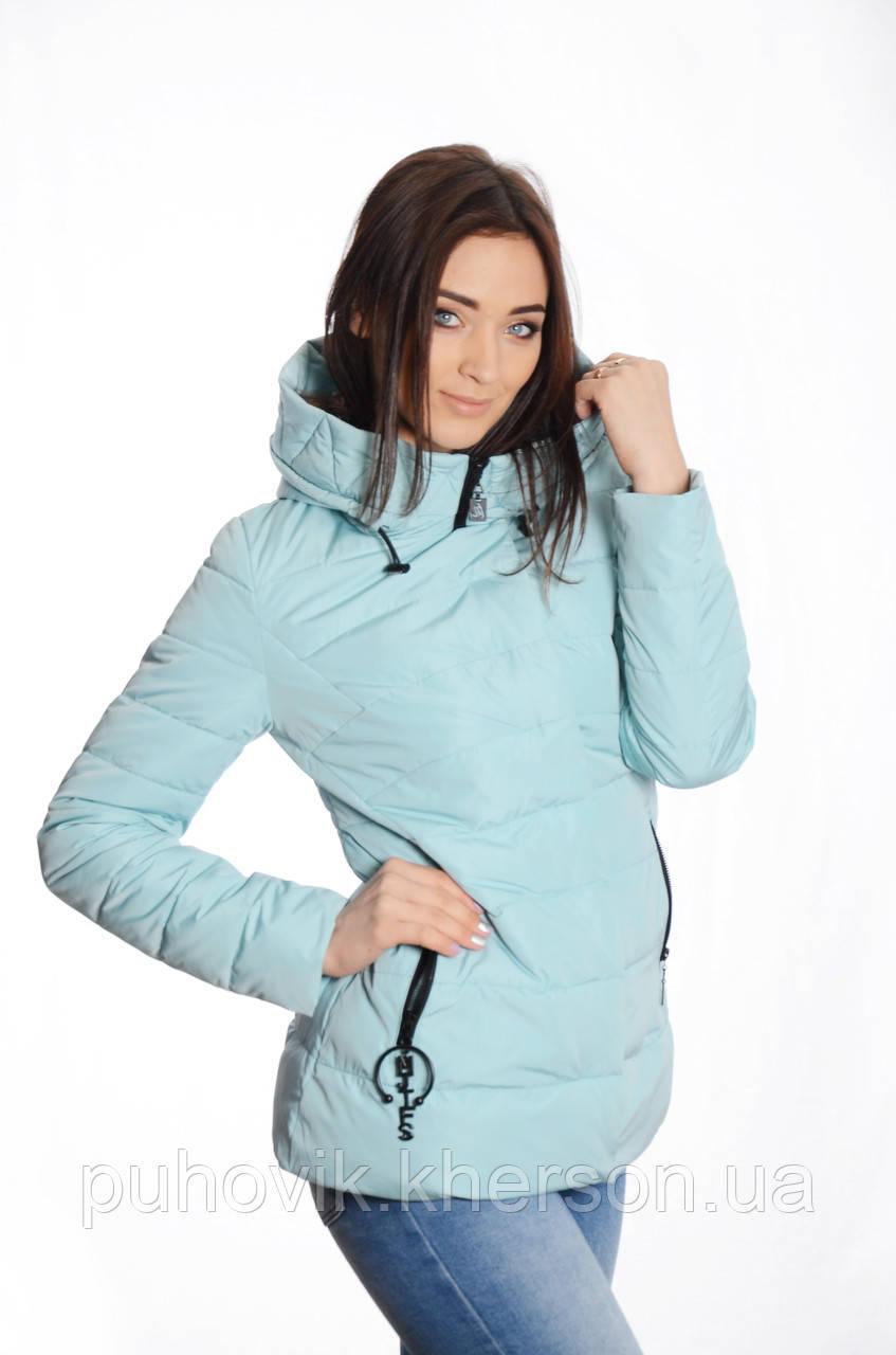 62c6732e941 Куртка женская деми Meajiateer M1808 голубой -