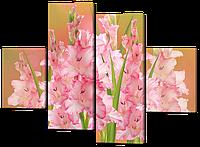 Модульная картина цветы Гладиолусы 126*93 см