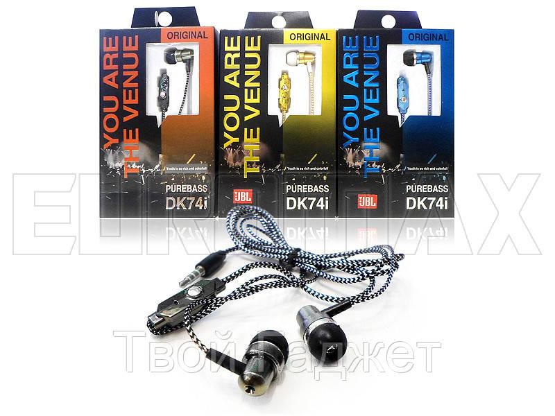 Наушники вакуумные с микрофоном (500) DK74i