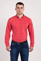 Рубашка однотонная Tommy