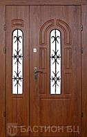 Двери входные-Элит с витражом