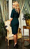 """Жіноче плаття """"Софія"""" темно-зеленого кольору, фото 2"""
