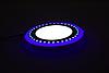 """LED панель Lemanso """"Точечки"""" LM537 круг  3+3W синяя подсв. 350Lm 4500K 85-265V"""