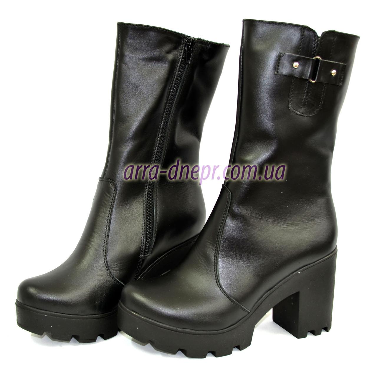 b068c78b8 Купить Женские зимние кожаные ботинки на тракторной подошве в Днепре ...