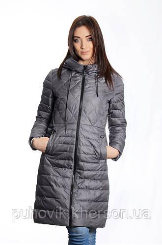 f25079aa45b Куртка женская деми Meajiateer M1813 серо-перламутр  продажа