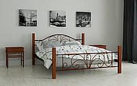 """Кровать металлическая на деревянных ножках """"Изабела"""" 180 х 200"""