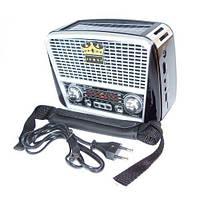 Портативная колонка MP3 USB Golon RX-455S Solar с солнечное панелью Black-Silver