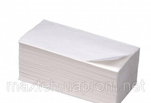 Бумажные полотенца V-сложение белые целлюлоза+макулатура